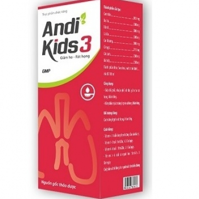ANDIKIDS3 Giúp giảm ho, rát họng, khản tiếng